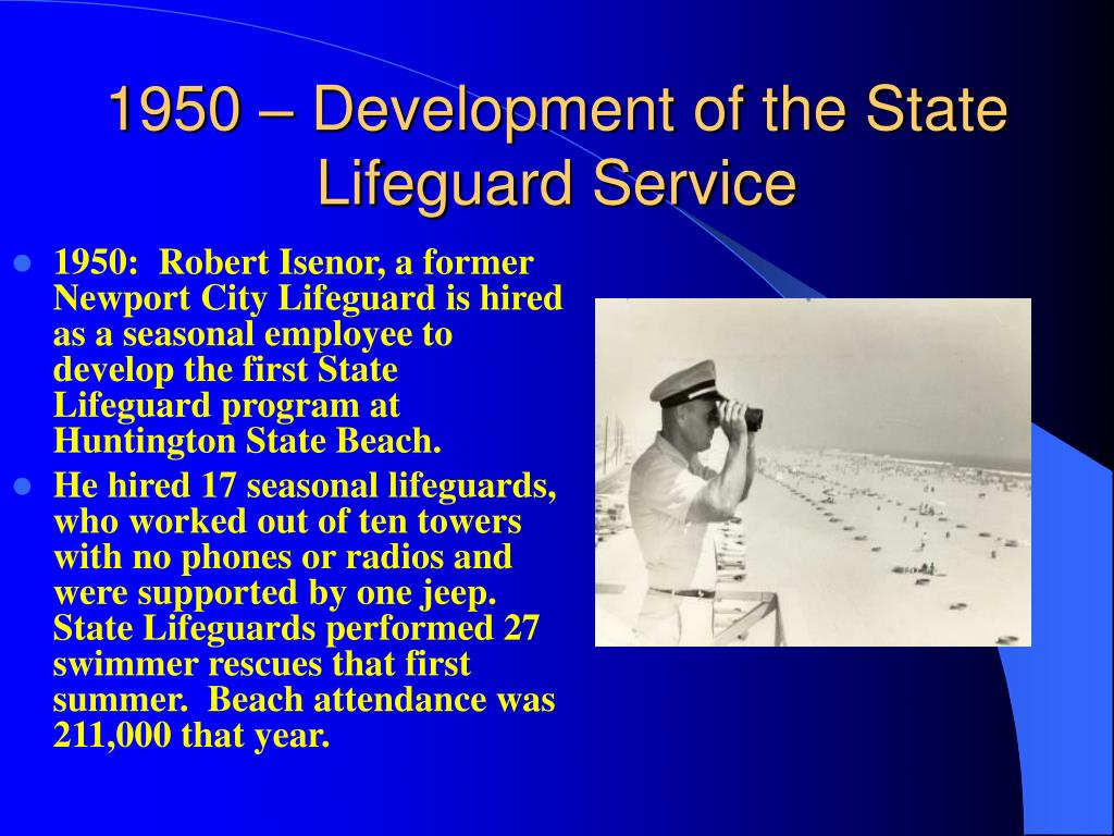 1950 – Development of the State Lifeguard Service