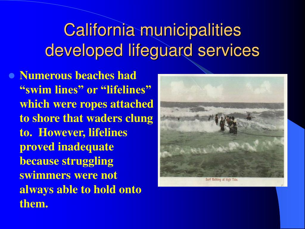 California municipalities developed lifeguard services