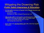 mitigating the drowning risk public safety awareness education
