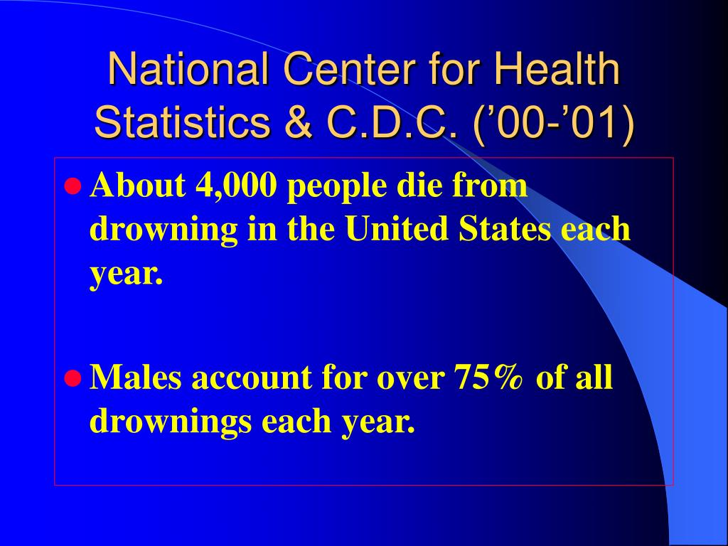 National Center for Health Statistics & C.D.C. ('00-'01)
