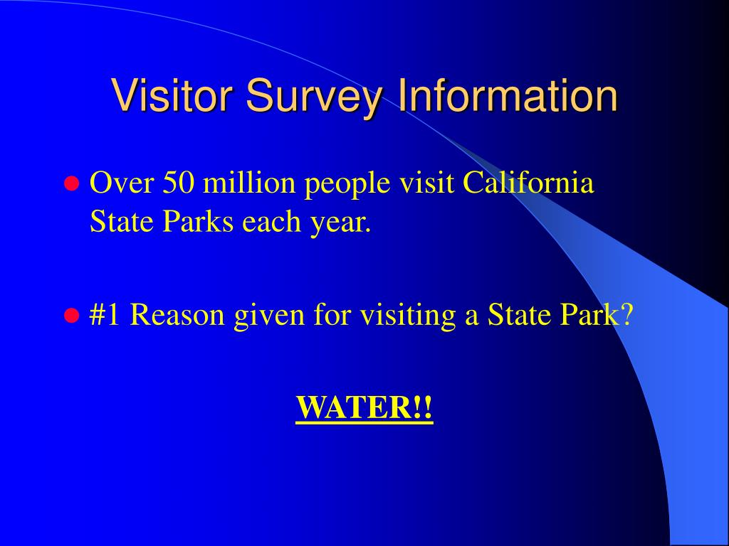 Visitor Survey Information