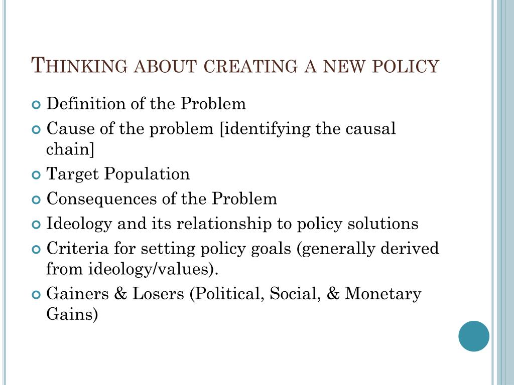 Thinking about creating a new policy