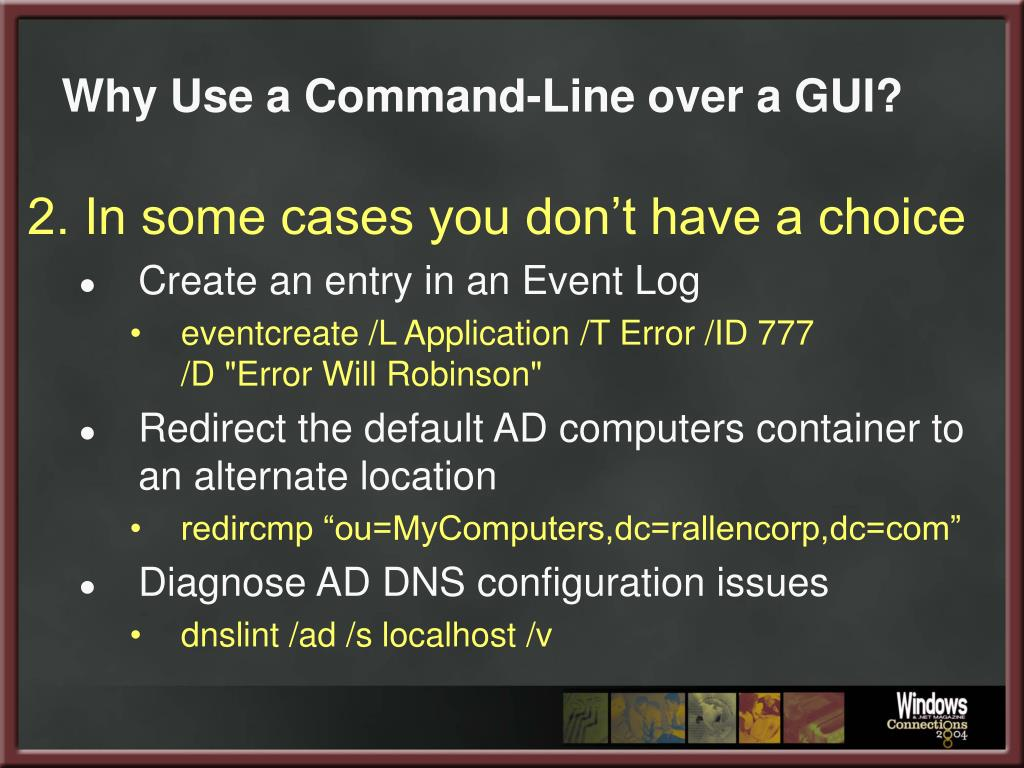 Why Use a Command-Line over a GUI?