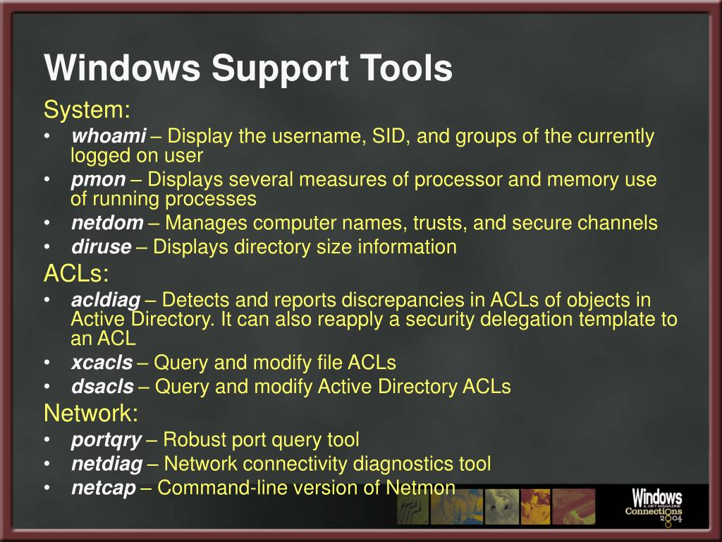 Windows Support Tools