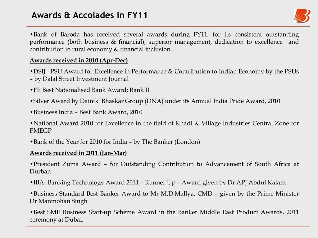 Awards & Accolades in FY11