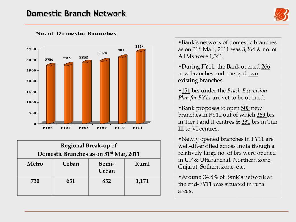 Domestic Branch Network