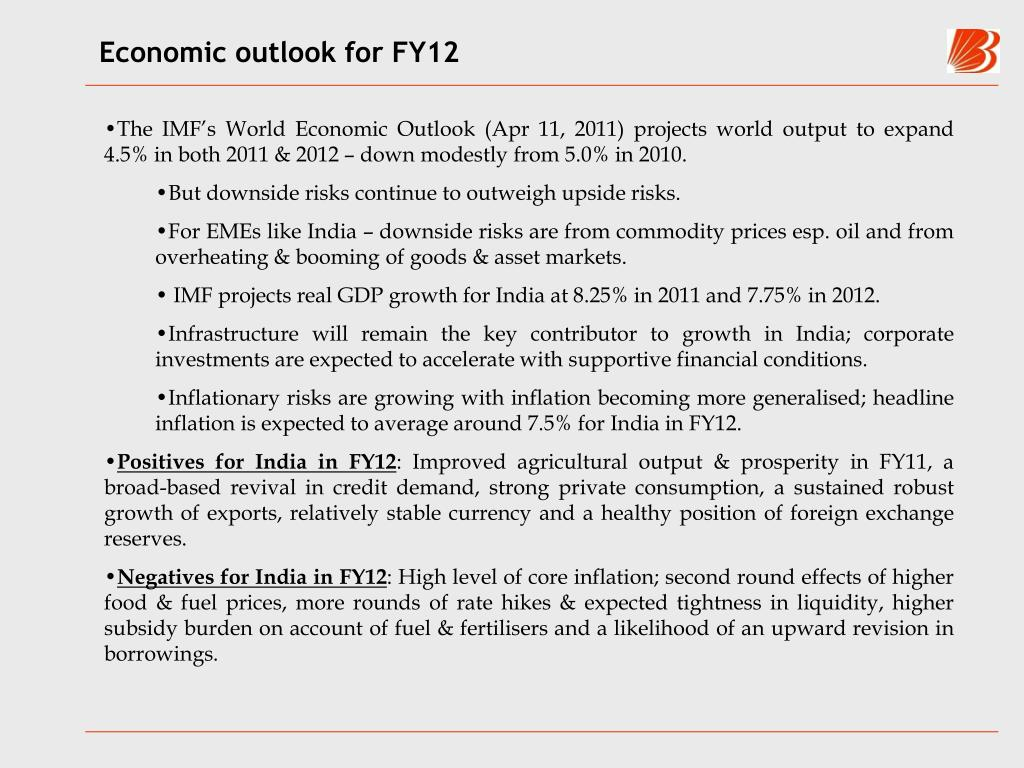 Economic outlook for FY12