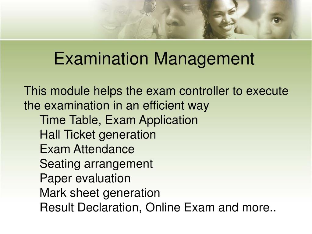 Examination Management