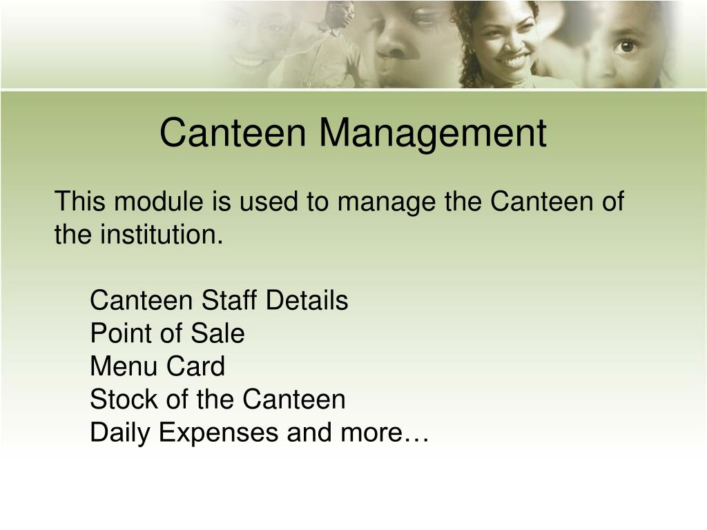 Canteen Management