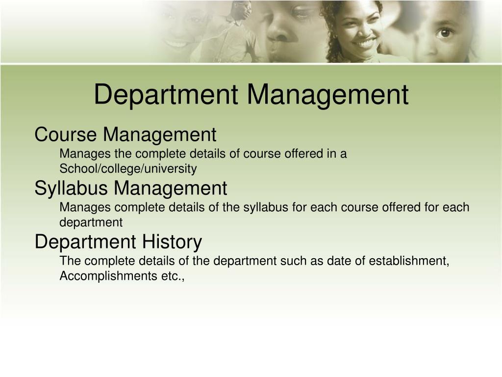 Department Management