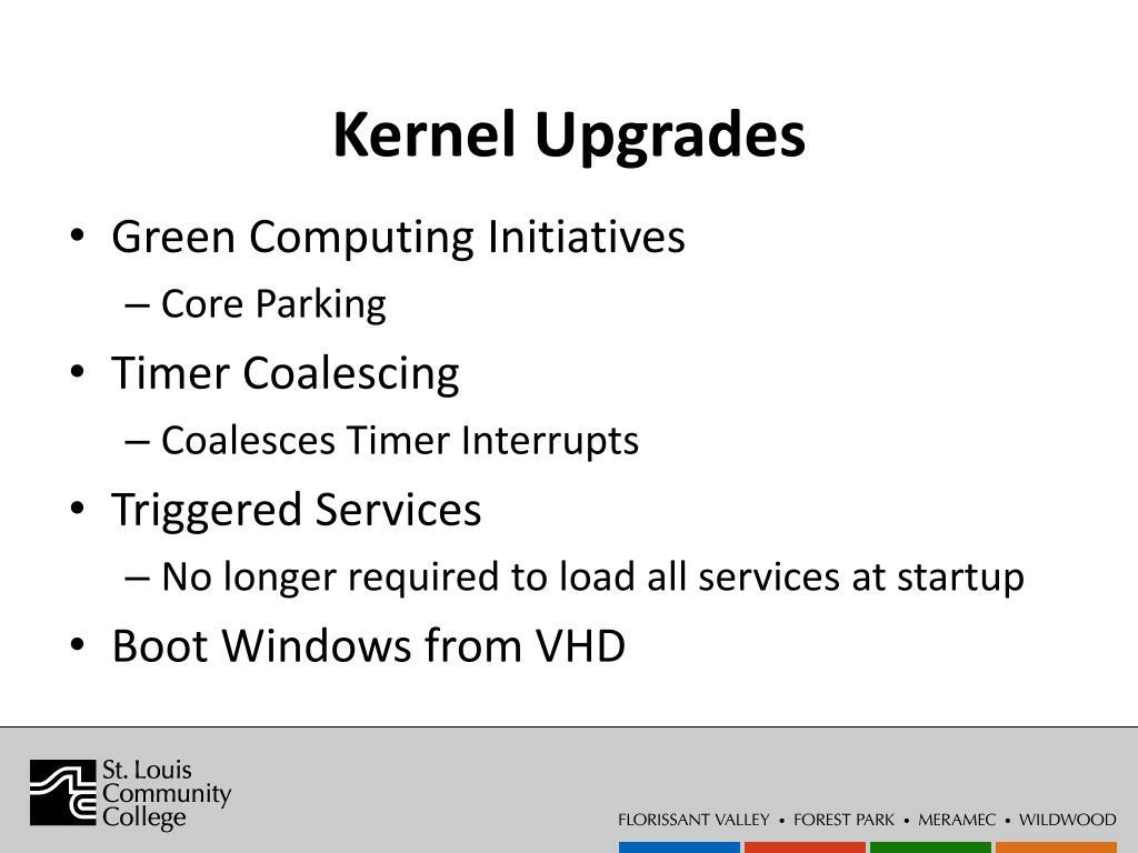 Kernel Upgrades