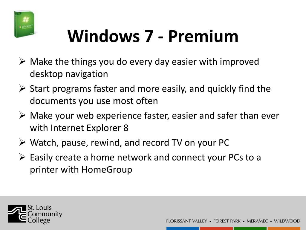 Windows 7 - Premium
