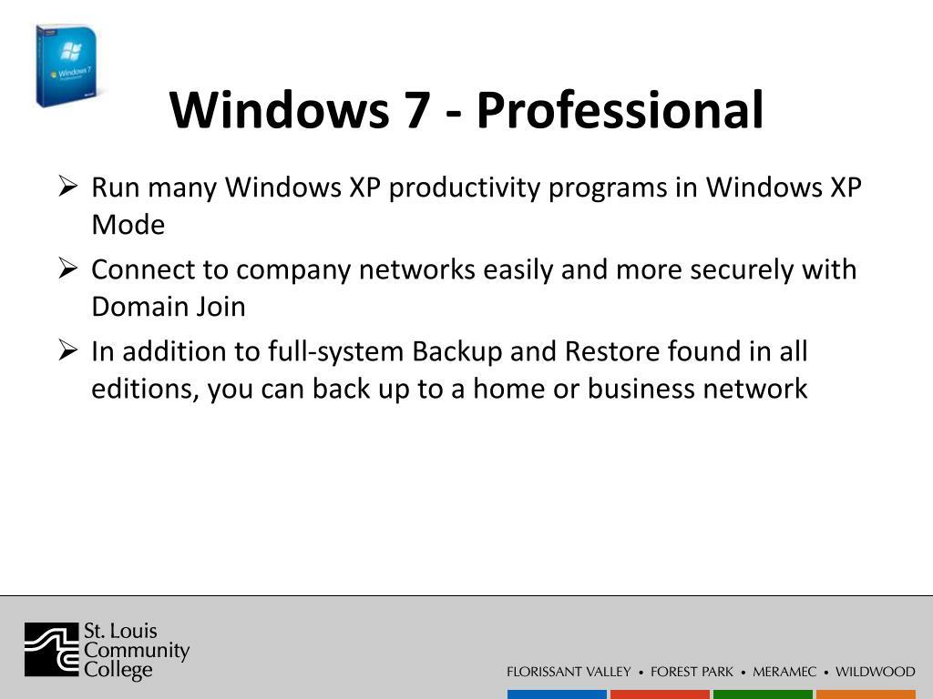 Windows 7 - Professional