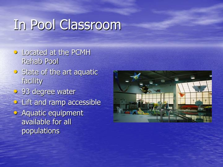 In pool classroom
