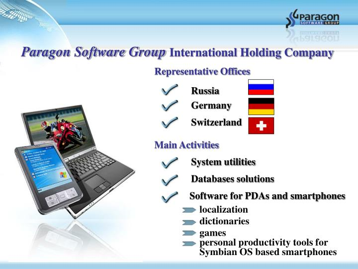 Paragon software group international holding company