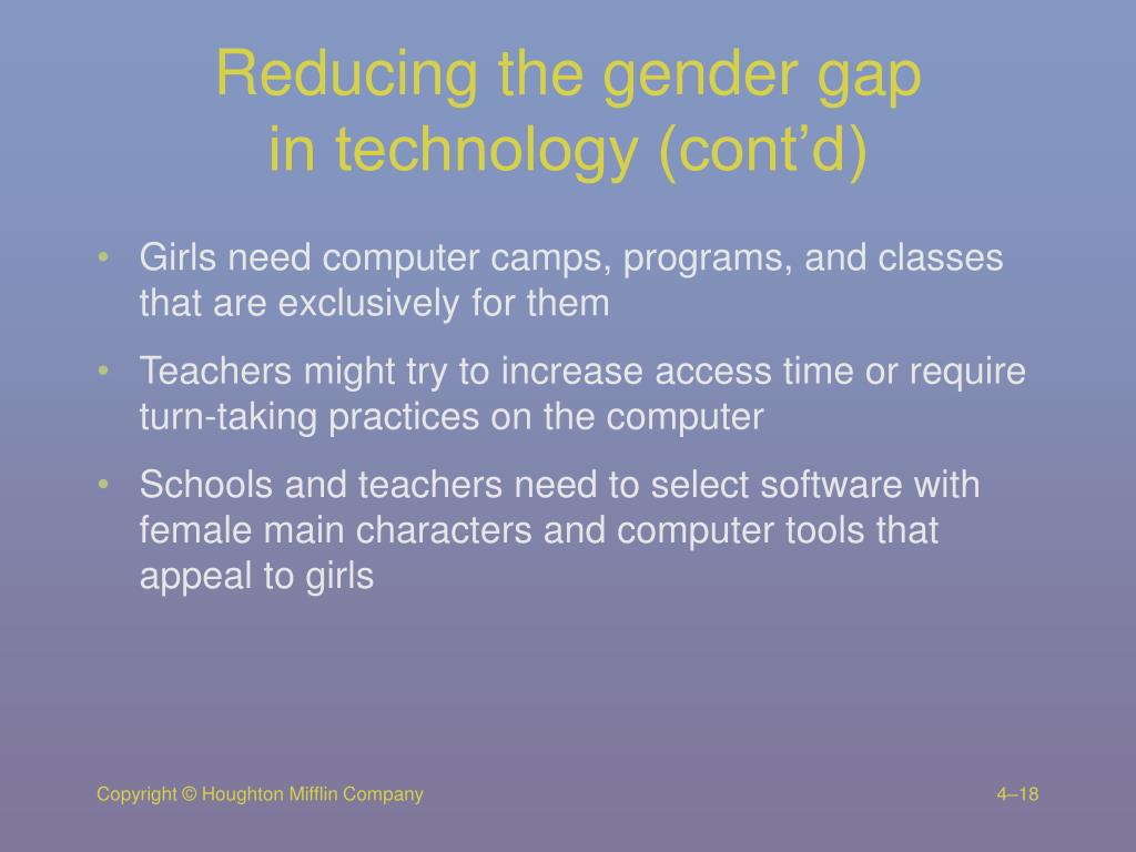 Reducing the gender gap
