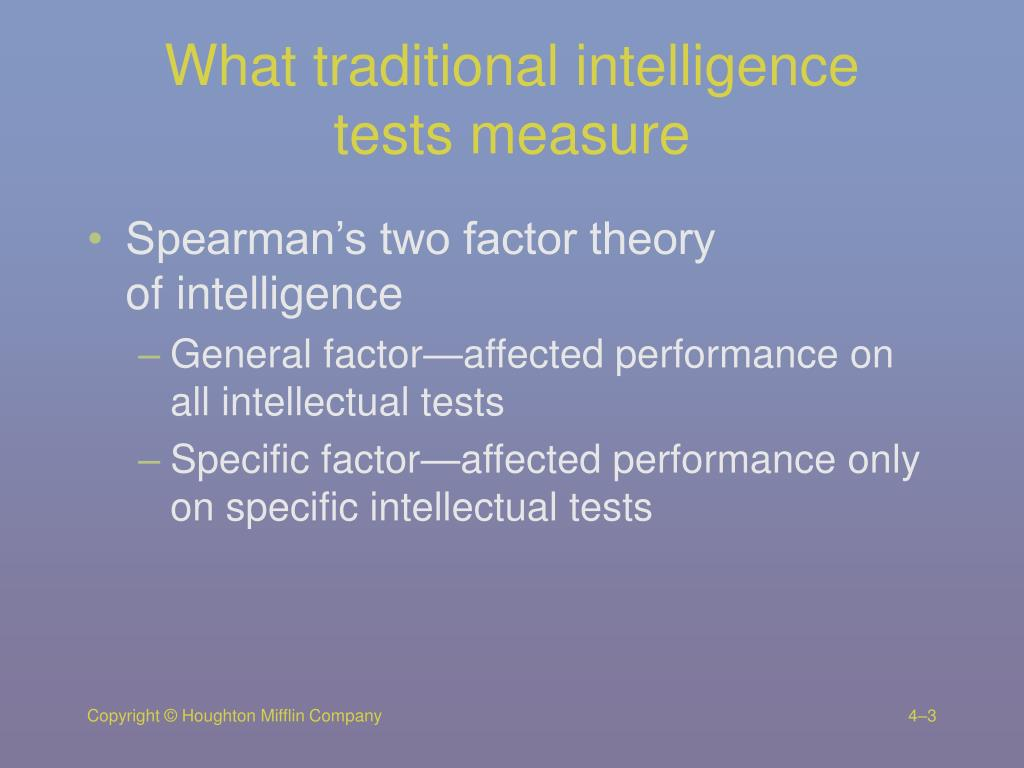 What traditional intelligence