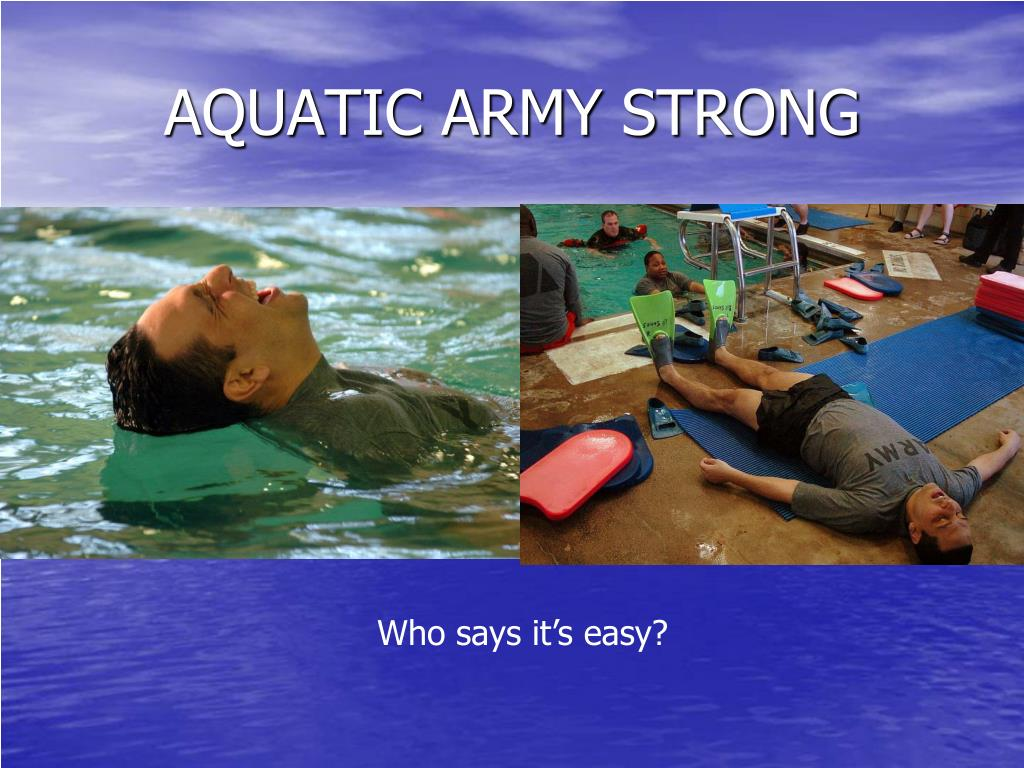 AQUATIC ARMY STRONG