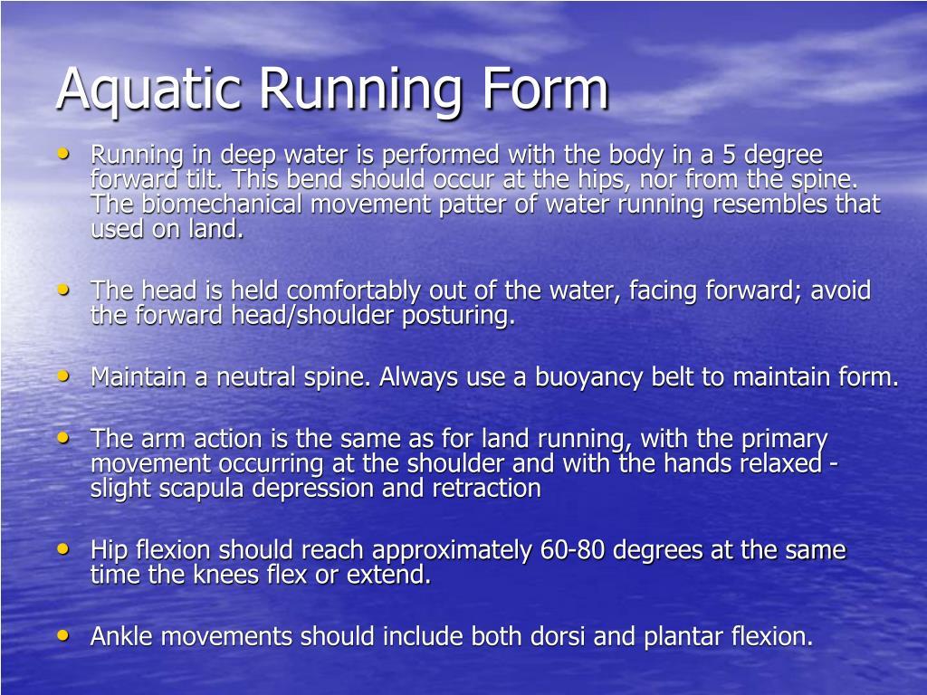 Aquatic Running Form
