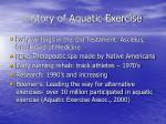 history of aquatic exercise