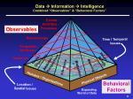 data information intelligence combined observables behavioral factors