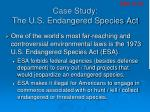 case study the u s endangered species act