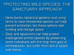 protecting wild species the sanctuary approach43