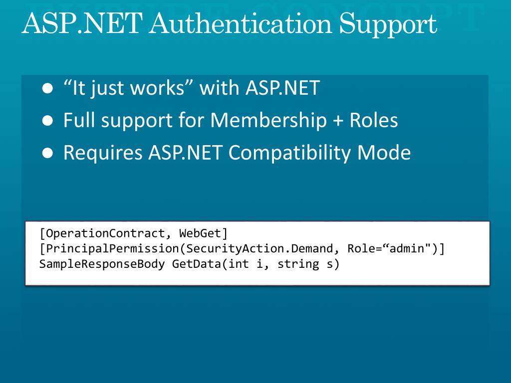 ASP.NET Authentication Support
