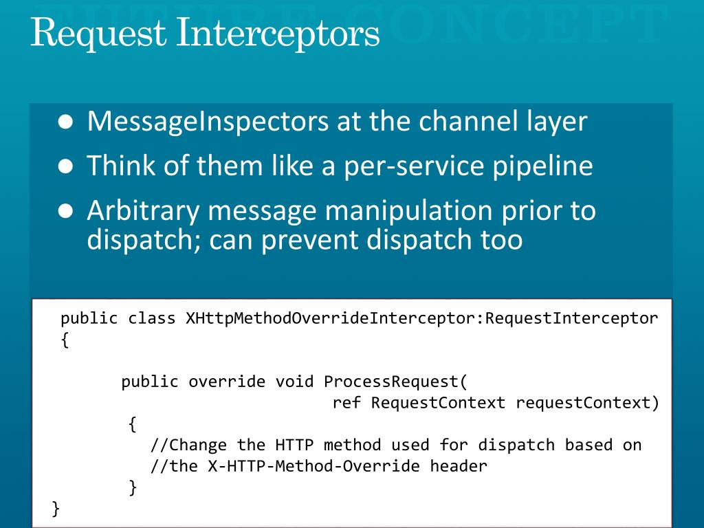 Request Interceptors
