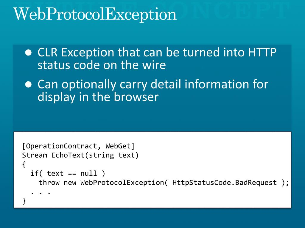 WebProtocolException