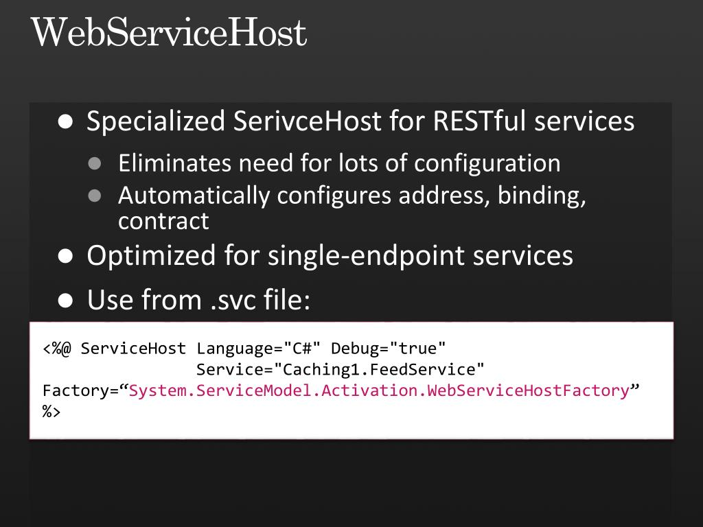 WebServiceHost