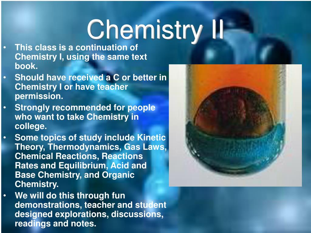 Chemistry II