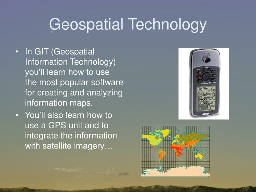 Geospatial Technology