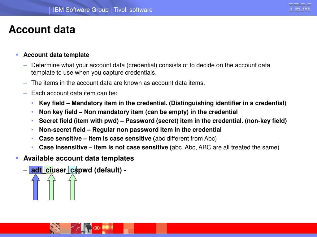 Account data