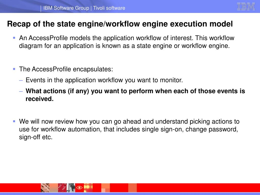 Recap of the state engine/workflow engine execution model
