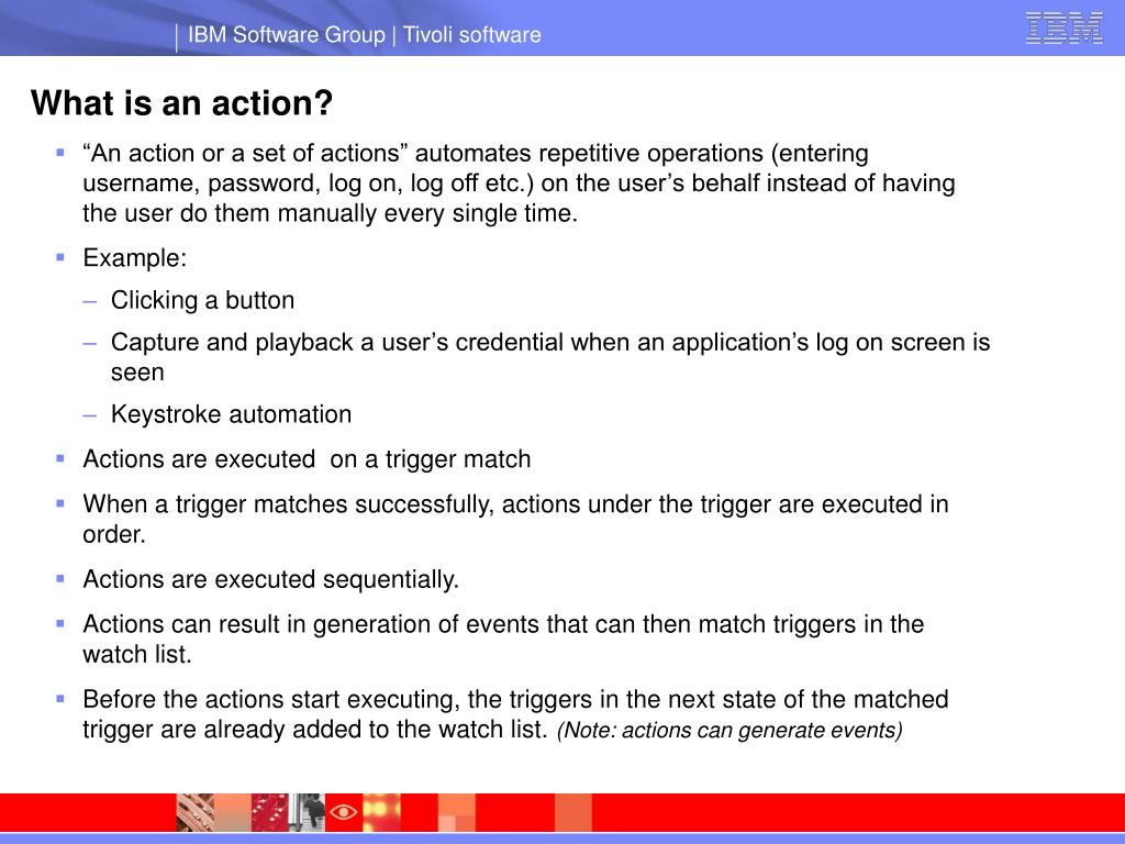 What is an action?