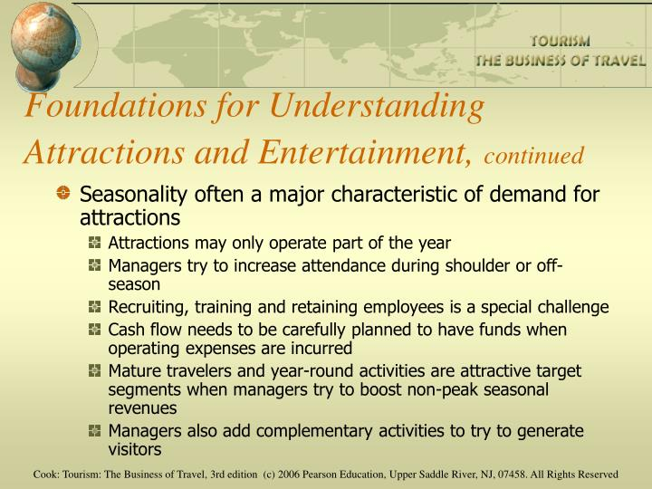 Foundations for Understanding Attractions and Entertainment,