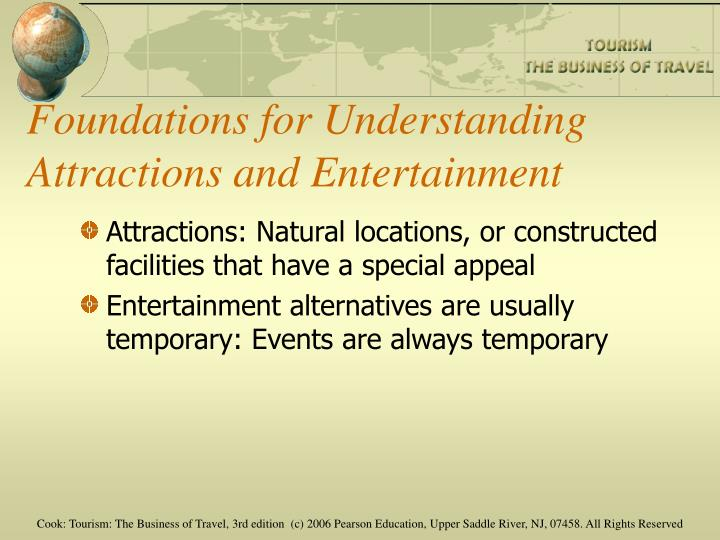 Foundations for Understanding Attractions and Entertainment
