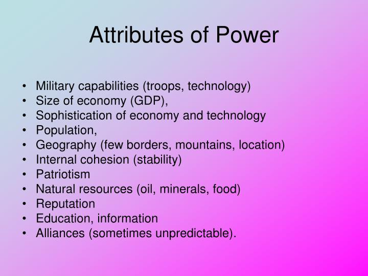 Attributes of Power