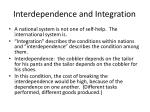 interdependence and integration
