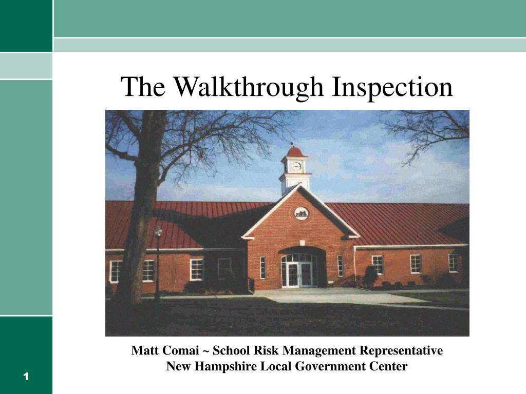 the walkthrough inspection