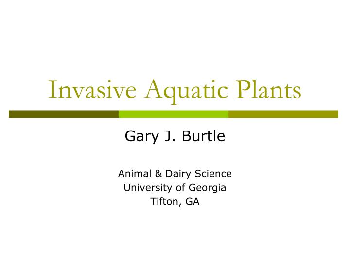 Invasive Aquatic Plants