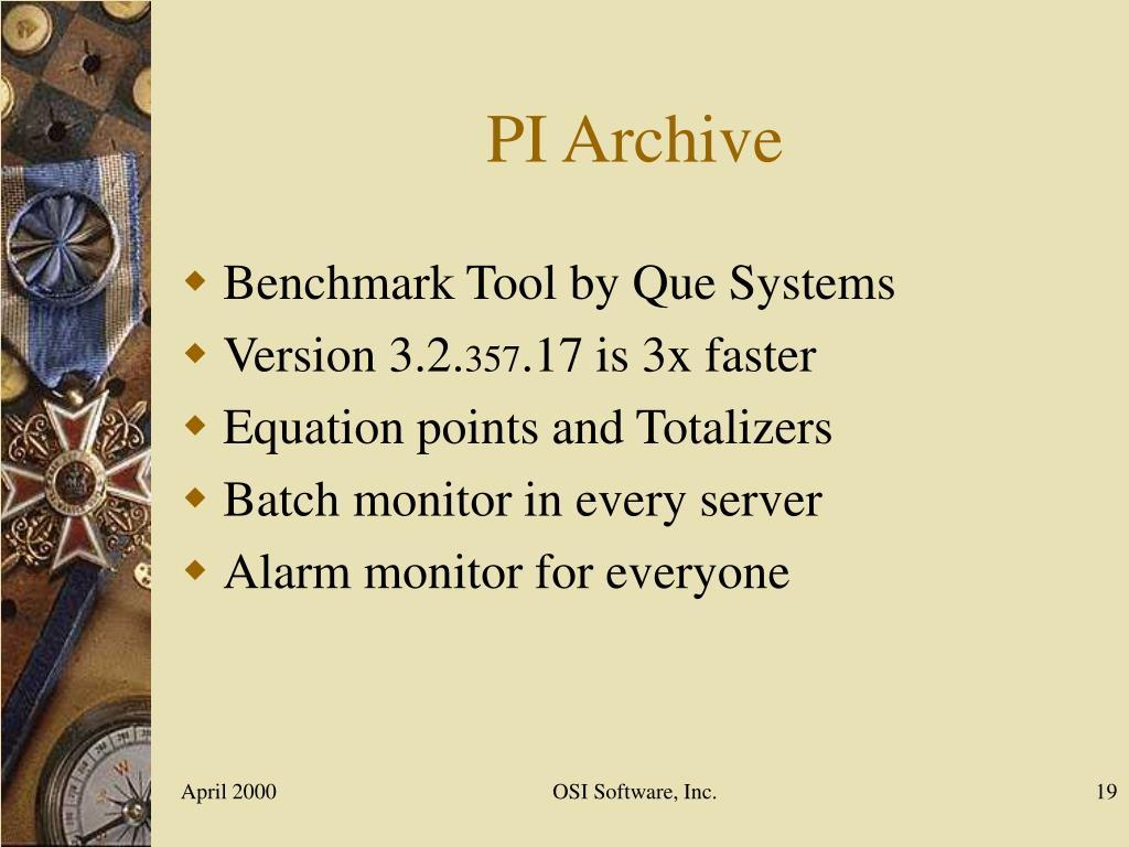 PI Archive