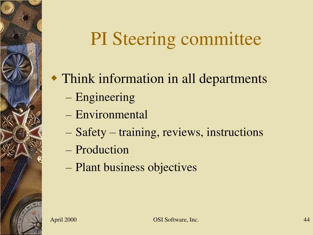 PI Steering committee