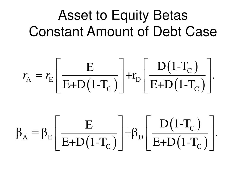 Asset to Equity Betas