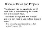 discount rates and projects
