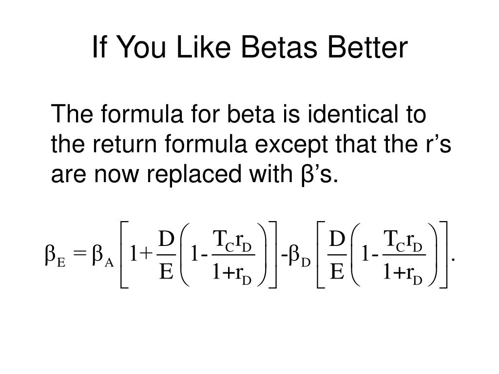 If You Like Betas Better