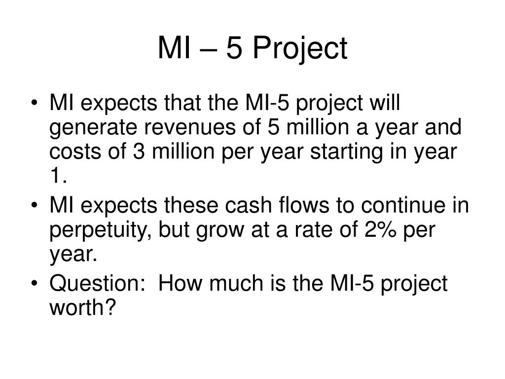 MI – 5 Project