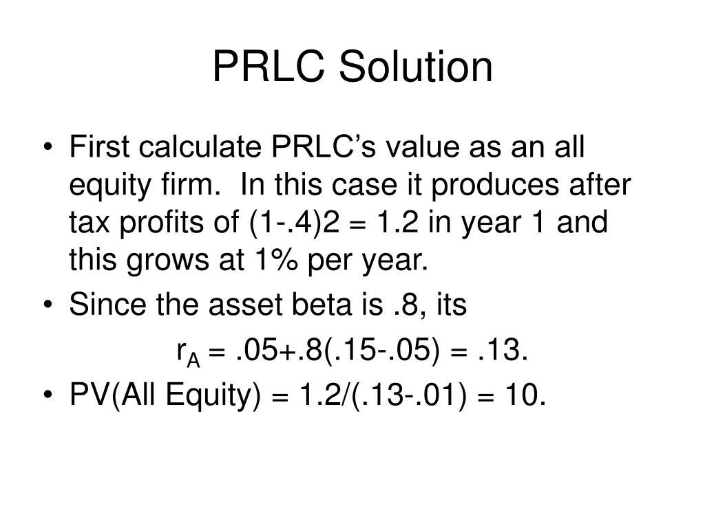 PRLC Solution