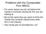problems with the comparable firm wacc